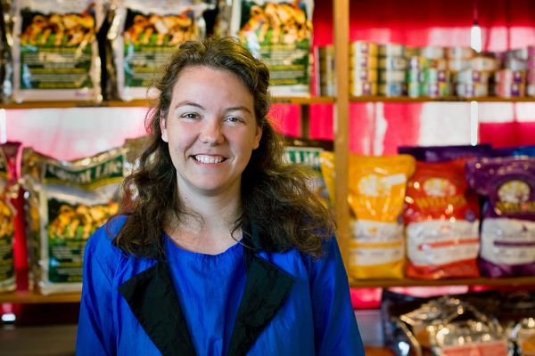 convenience store staff smiling